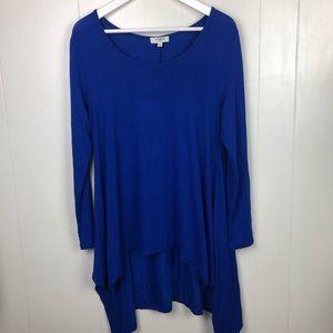 UMGEE Woman's Tunic Top Royal Blue Small 298
